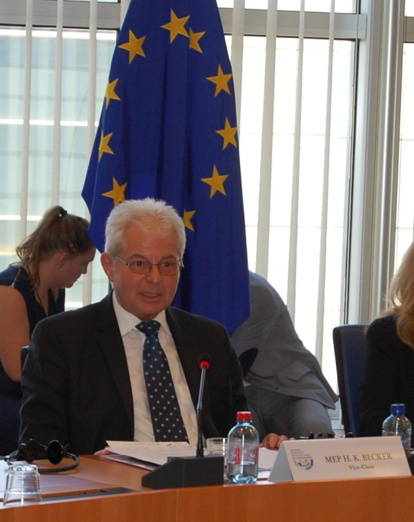MEP Heinz K. Becker (WGAS Co-chair, Austria, EPP