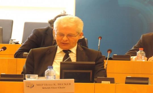 MEP Heinz K. Becker, WGAS Vice-Chair (Austria, EPP)